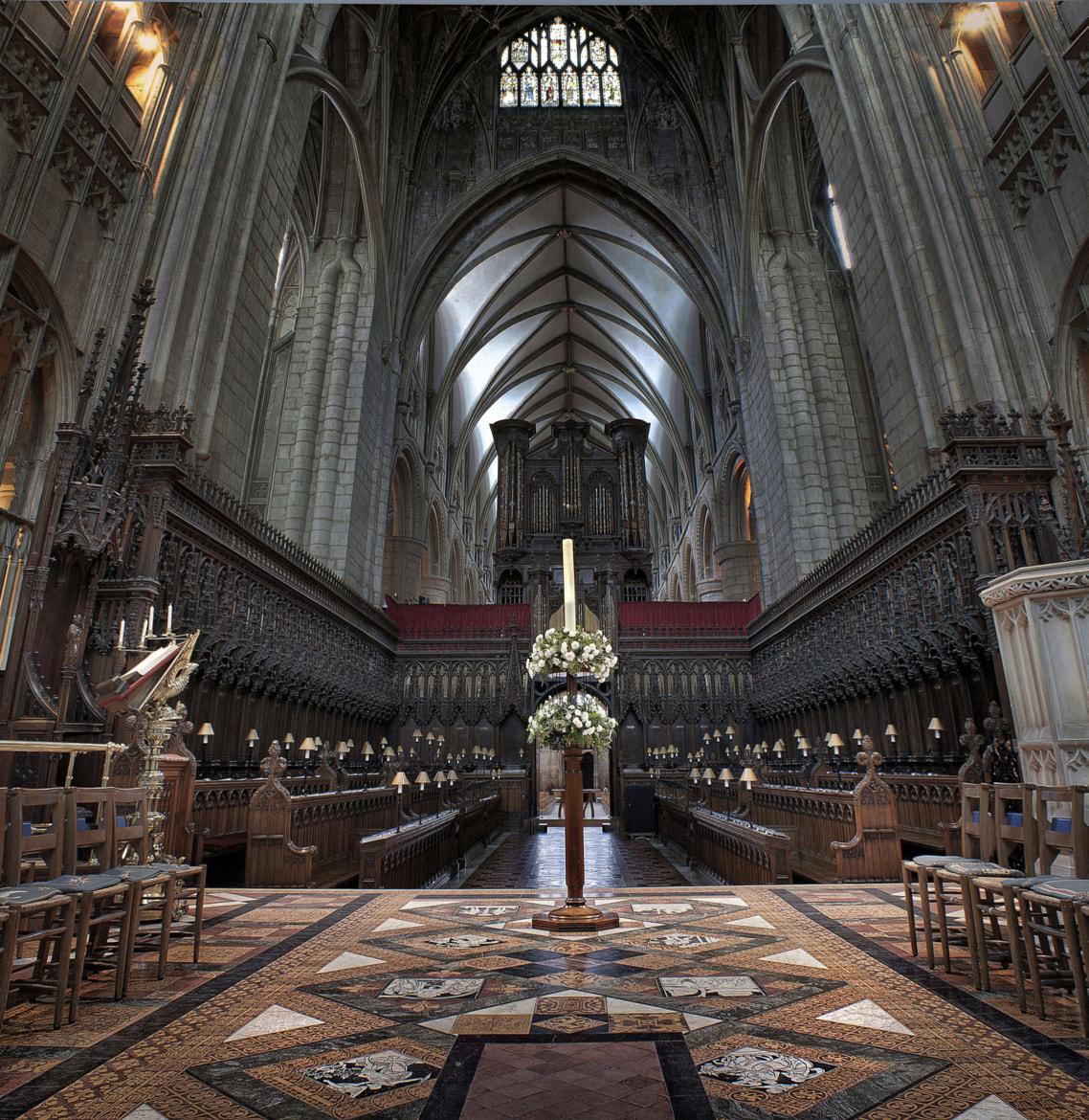 Photograph Gloucester Cathedral Choir and Knave by mark mathias on 500px