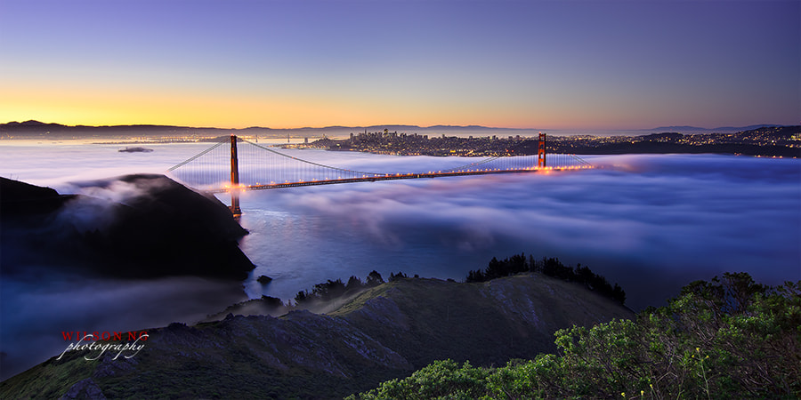 Photograph Golden Gate at Sunrise by Wilson Ng on 500px