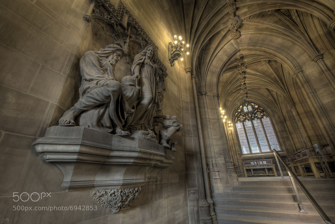 Photograph John Rylands Library Statue by Jason Merrin on 500px