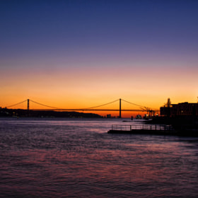 Lisbon sunset by Carlos Garcia Sanchez (CarlosGarciaSanchez)) on 500px.com