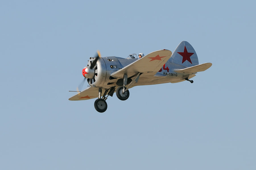 """The Polikarpov I-16 was a Soviet fighter aircraft of revolutionary design; it was the world's first low-wing cantilever monoplane fighter with retractable landing gear to have attained operational status and as such """"introduced a new vogue in fighter design."""" The I-16 was introduced in the mid-1930s and formed the backbone of the Soviet Air Force at the beginning of World War II. The diminutive fighter, nicknamed """"Ishak"""" (""""Donkey"""") by Soviet pilots, prominently featured in the Second Sino-Japanese War, the Battle of Khalkhin Gol and the Spanish Civil War where it was called the Rata (""""Rat"""") by the Nationalists or Mosca (""""Fly"""") by the Republicans. The Finnish nickname for I-16 was Siipiorava (""""Flying Squirrel"""").  Cource: Wikipedia.  Regards and have a nice day,  Harry"""