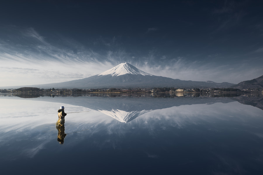 Fuji reflection by pome acro on 500px.com