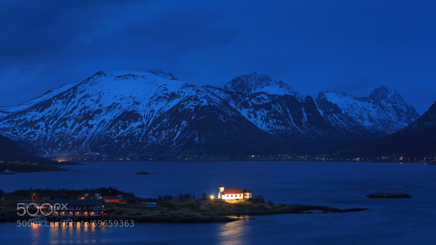 Valan Peninsula in blue hour