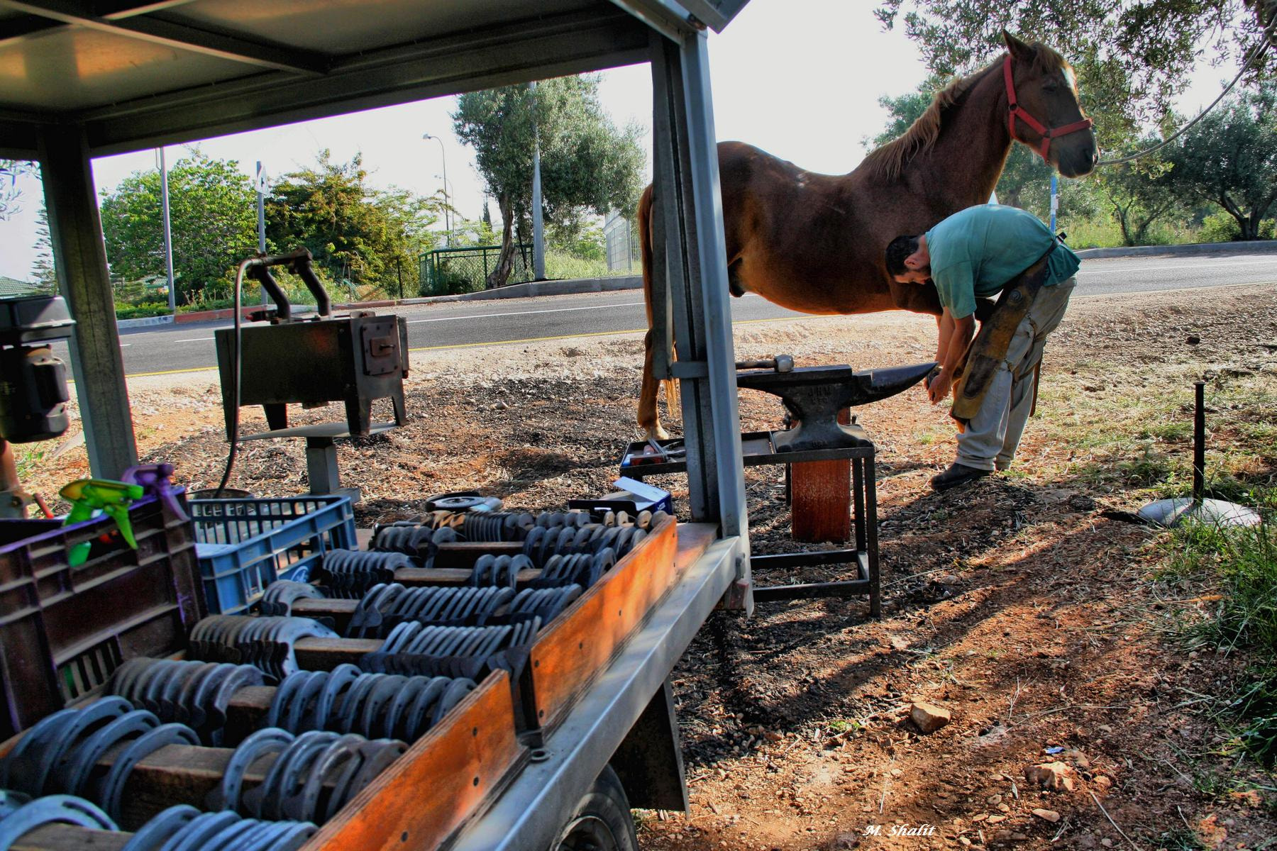 Photograph horse-shoe maker by Moshe Shalit on 500px