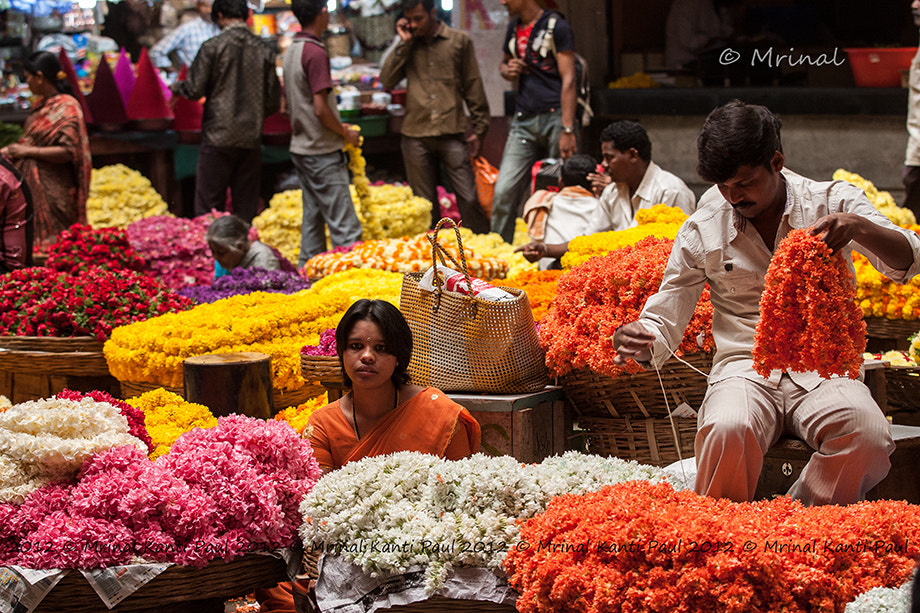 Photograph Busy Flower Market by Mrinal Kanti Paul on 500px
