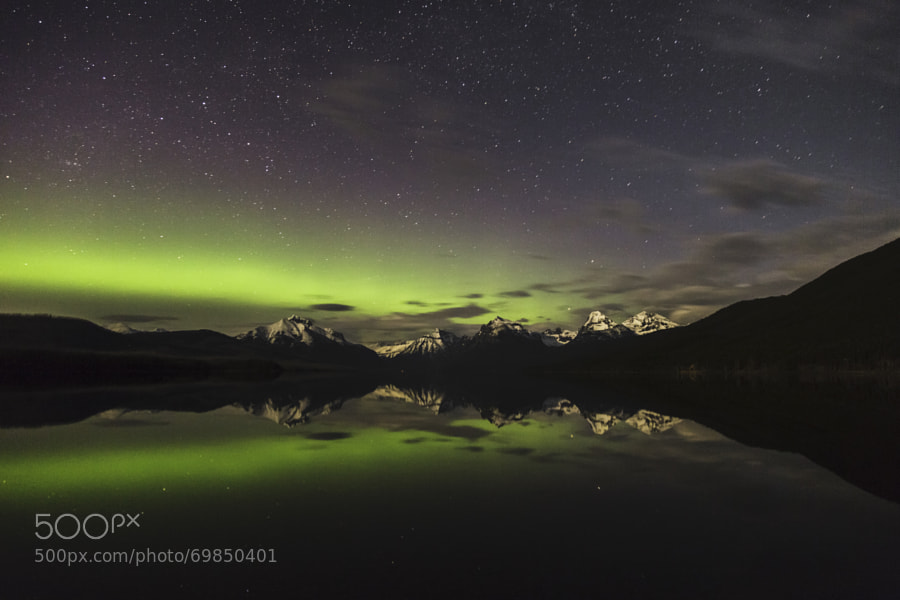 Photograph Aurora Borealis in Glacier National by Rick Huntsman on 500px