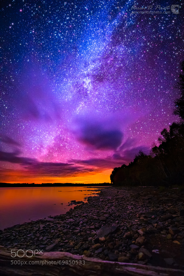 Photograph Milky Way over Spencer Bay, Moosehead Lake, Maine by Aaron Priest on 500px