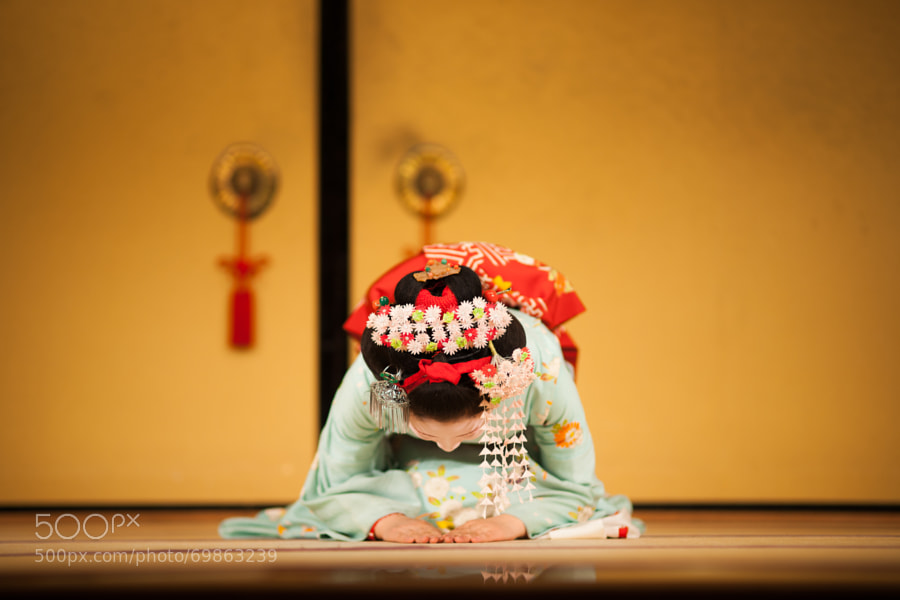Photograph A Geisha's Answering A Curtain Call by ?? ? on 500px