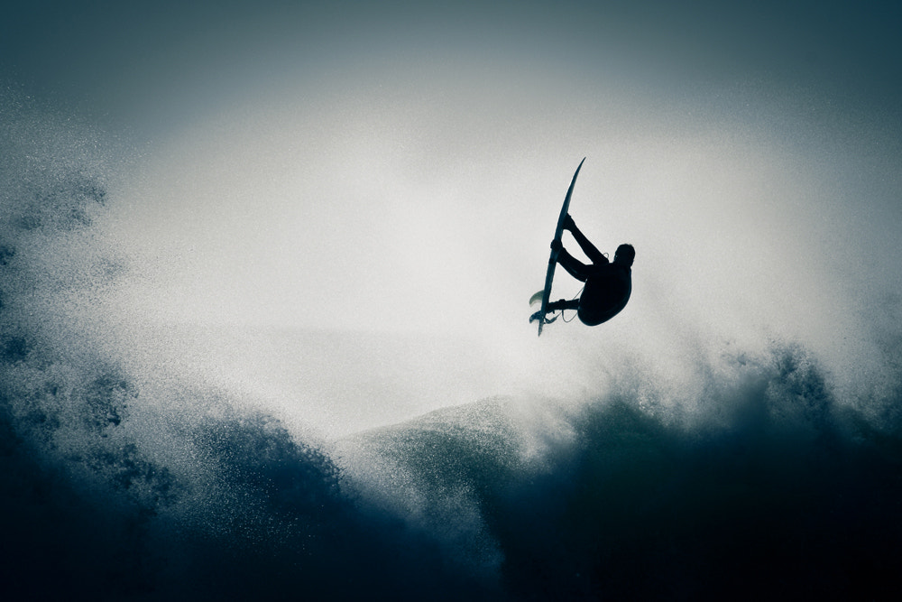 Photograph Silhouette Surfer by Claire Butler on 500px