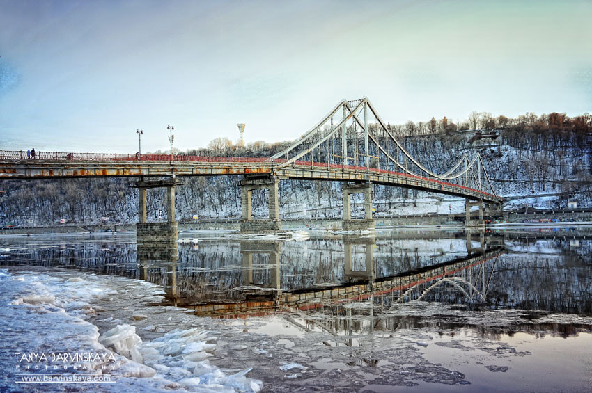 Photograph Footbridge over the Dnipro by Tanya Barvinskaya on 500px