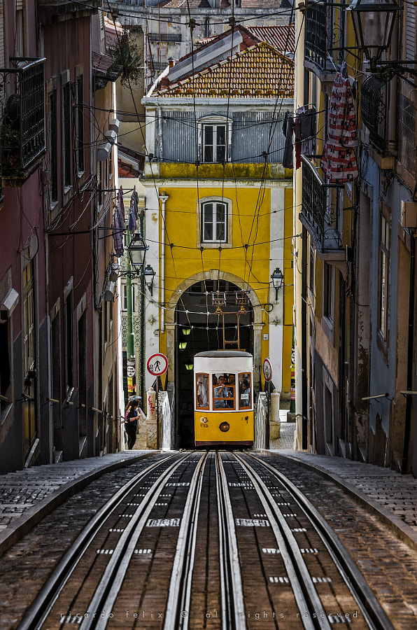 "The ""Bica"" Funicular - Lisbon, Portugal by Ricardo Bahuto Felix on 500px.com"
