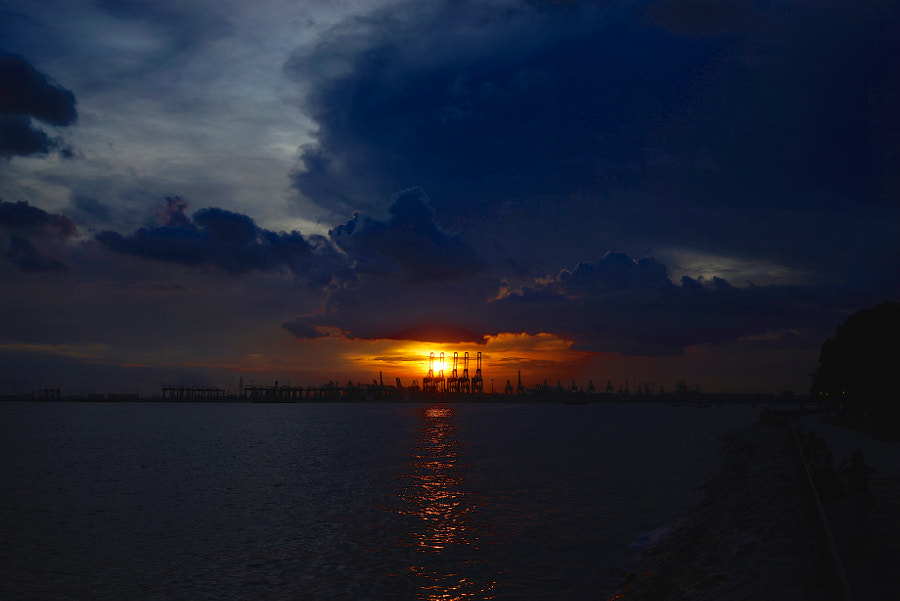 Sunset from Labrador Park in Singapore
