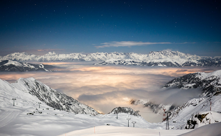 Illuminated Clouds at Kitzsteinhorn in the Austrian Alps by Jens Grubert on 500px.com
