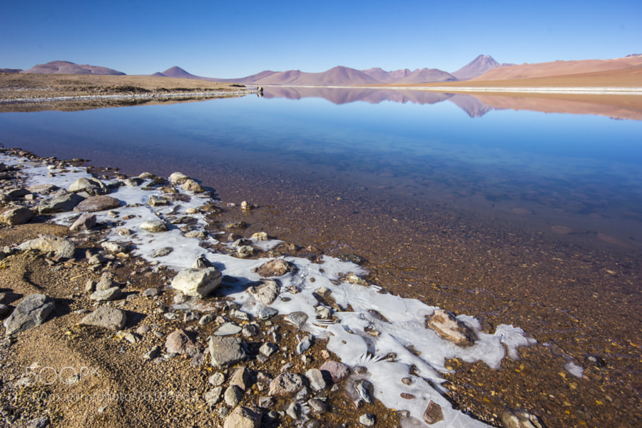 Laguna Quepiaco and Acamarachi Vulcan behid.