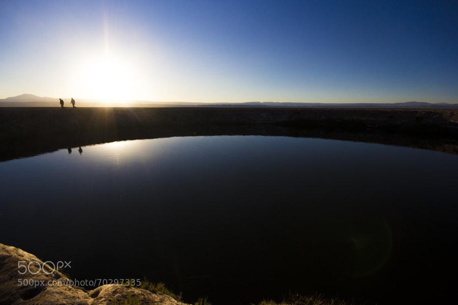 Los Ojos del Salar son lagunas del Salar de Atacama y se han convertido en una fuerte atracción turística porque en ellas se puede tomar un baño y sentir el efecto gravitatorio, debido fuerte concentración de sales minerales en el agua.