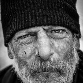 My homeless friend john,waiting at the bus stop,portland Oregon.