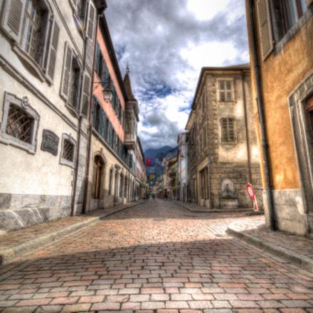 Rue à Saint-Maurice - Suisse