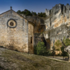 ������, ������: Chapel of St Bartholomew in the interior of Rio Lobos Canyon Natural Park Soria Spain