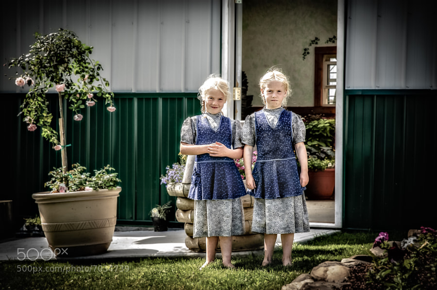 Photograph Mennonite Twins by Steve Steinmetz on 500px