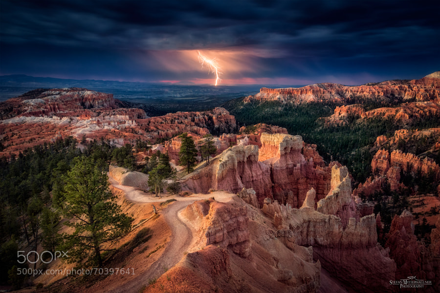 Photograph Lightning over Bryce Canyon by Stefan Mitterwallner on 500px