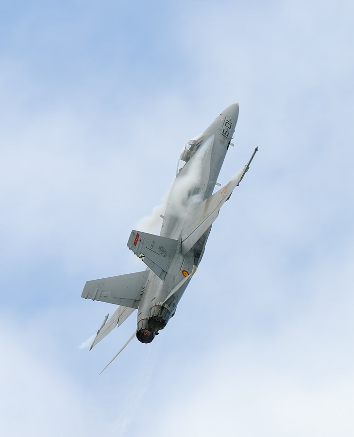 Spanish Air Force McDonnell Douglas EF-18A Hornet during an airshow at Volkel air base in the Netherlands.  Regards and have a nice day,  Harry