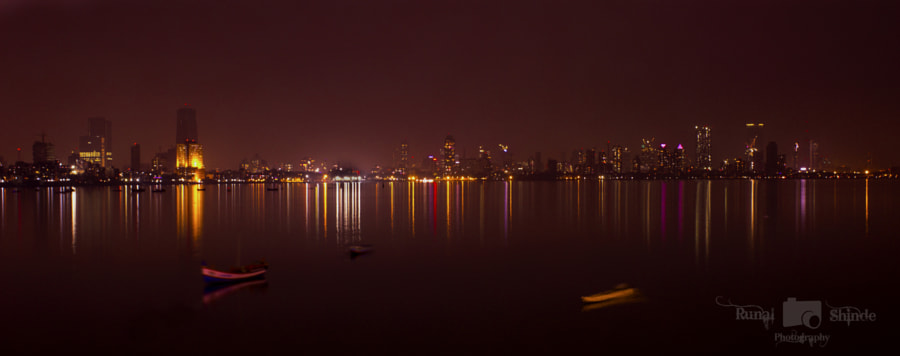 Photograph Night at Bandra Reclamation by Runal Shinde on 500px