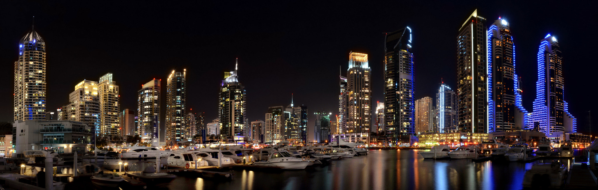 Photograph Dubai Marina Panorama by MOhab Karram on 500px