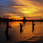 Постер, плакат: fishing in May home