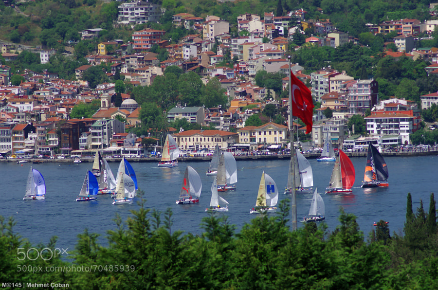 Photograph Sailboats parade. by Mehmet Çoban on 500px