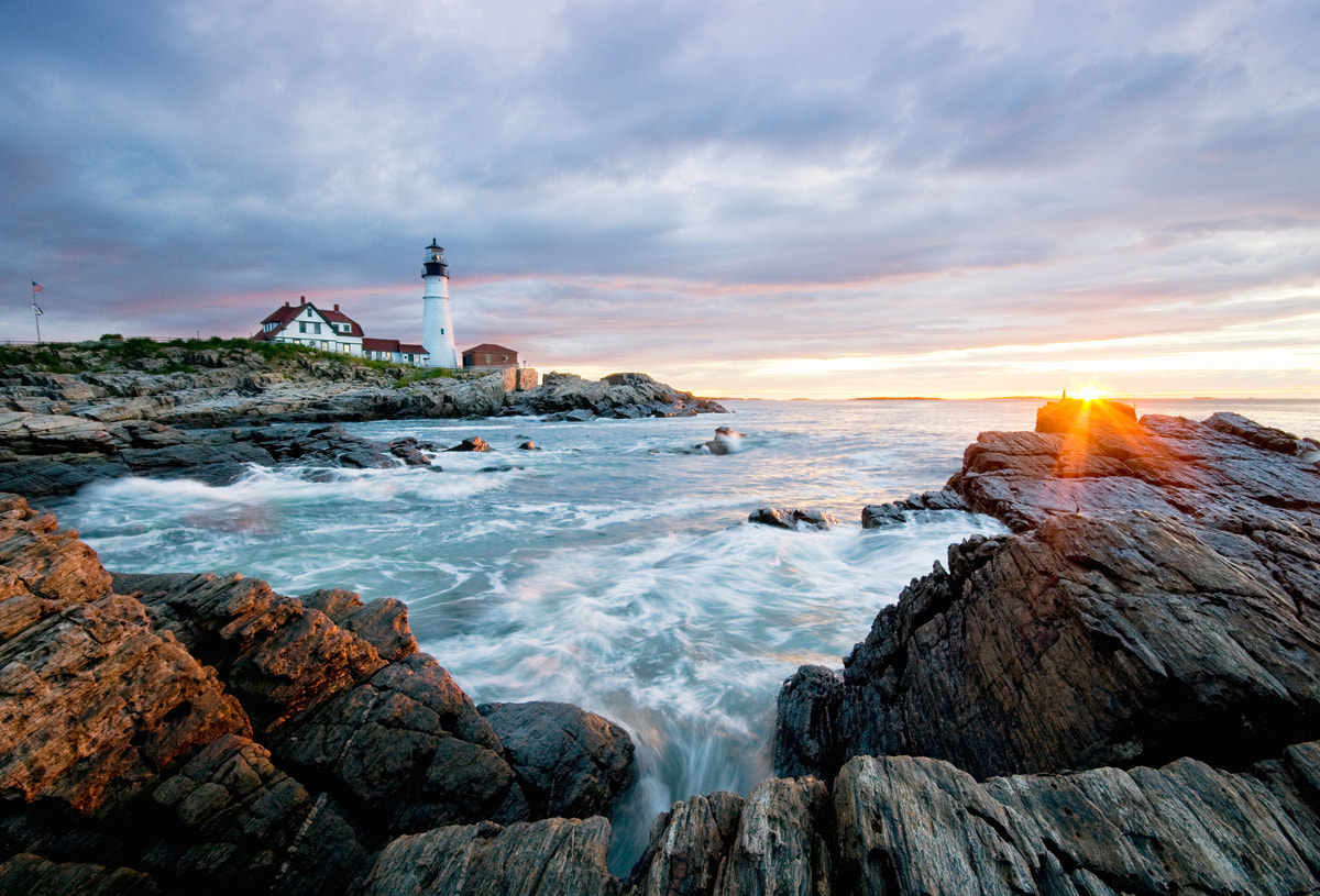 Photograph Portland Head Lighthouse Sunrise by Moe Chen on 500px