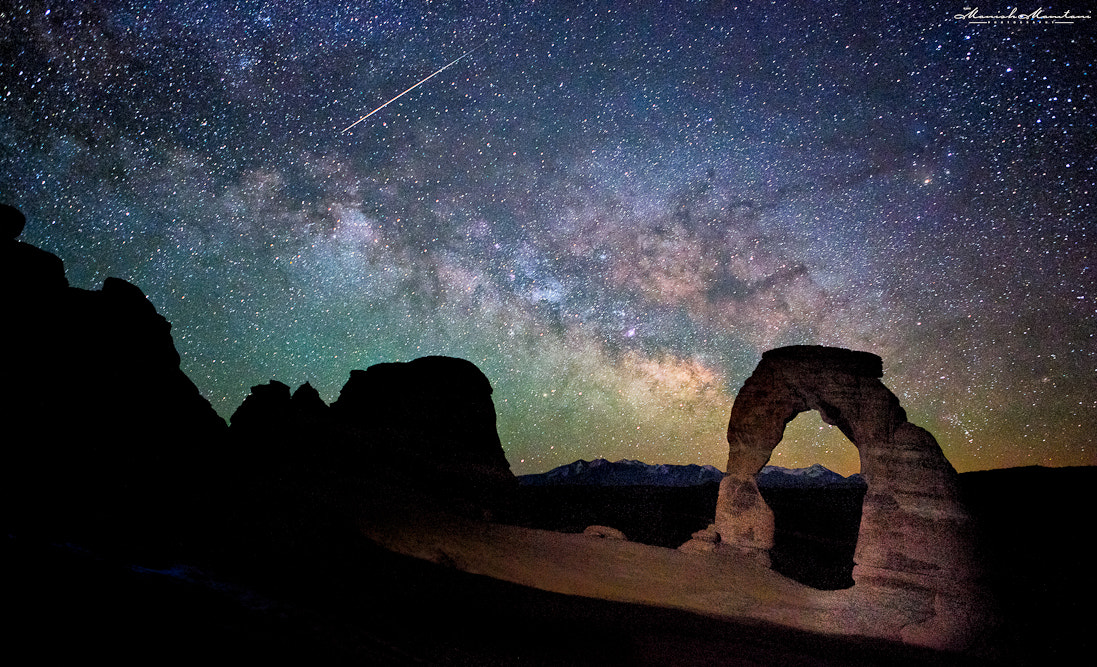 Photograph Milky way and the meteor shower by Manish Mamtani on 500px