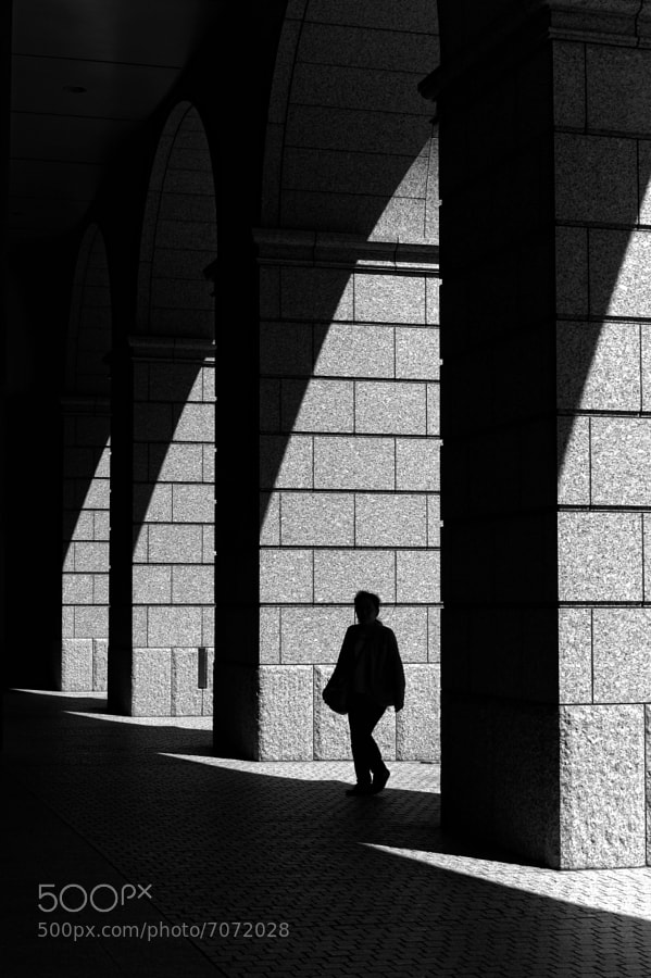 black and white street photograph