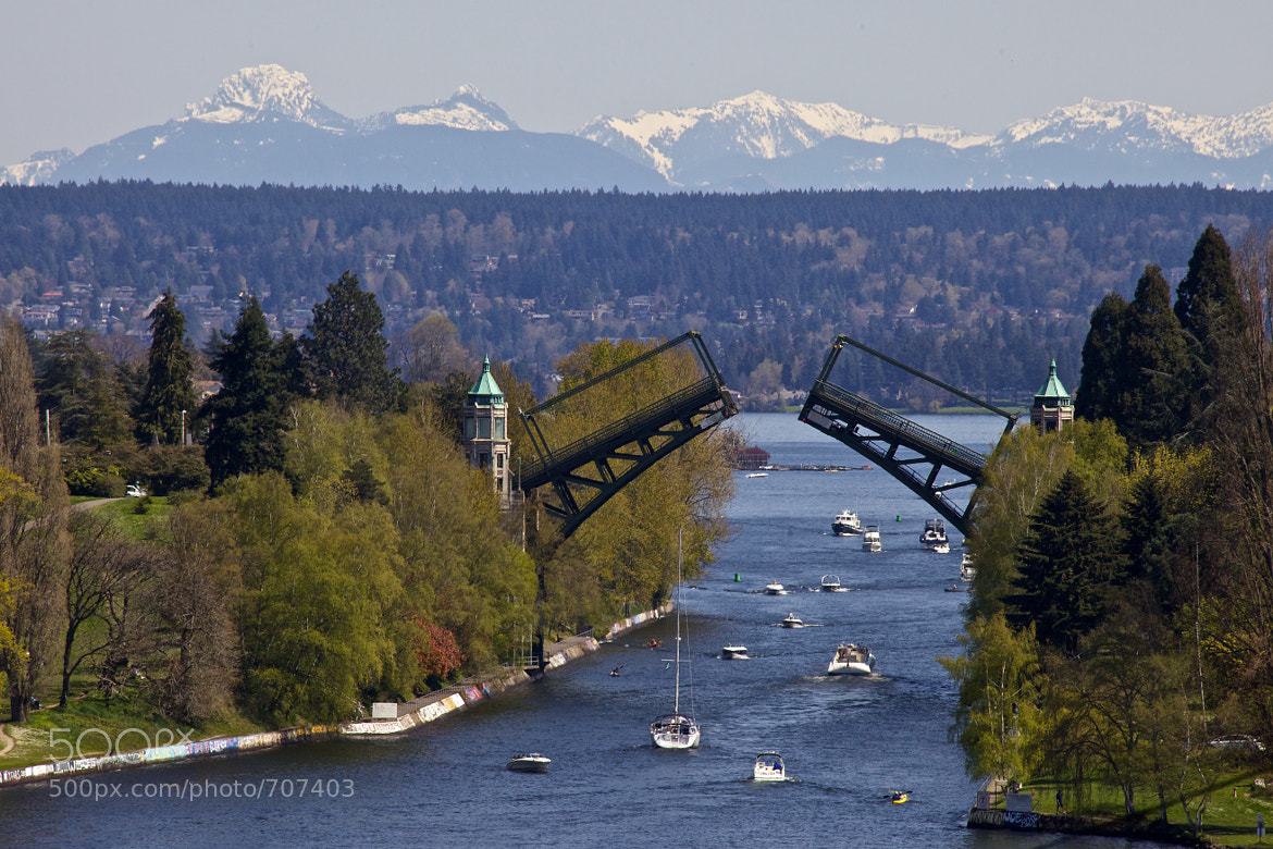 Photograph Montlake Bridge and Cascades by C. Chase Taylor on 500px