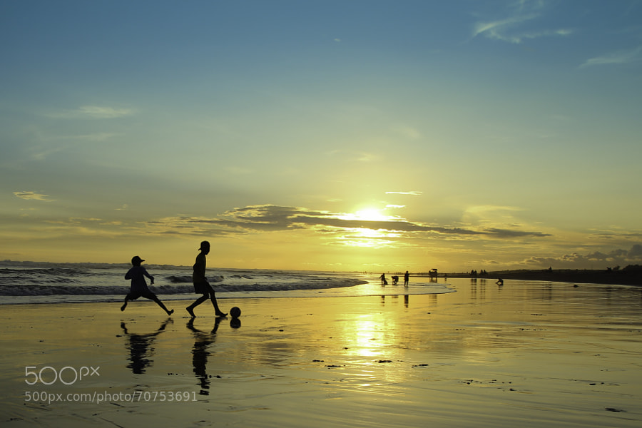 Photograph Beach Football and Sunset by Cokro Nurjati on 500px