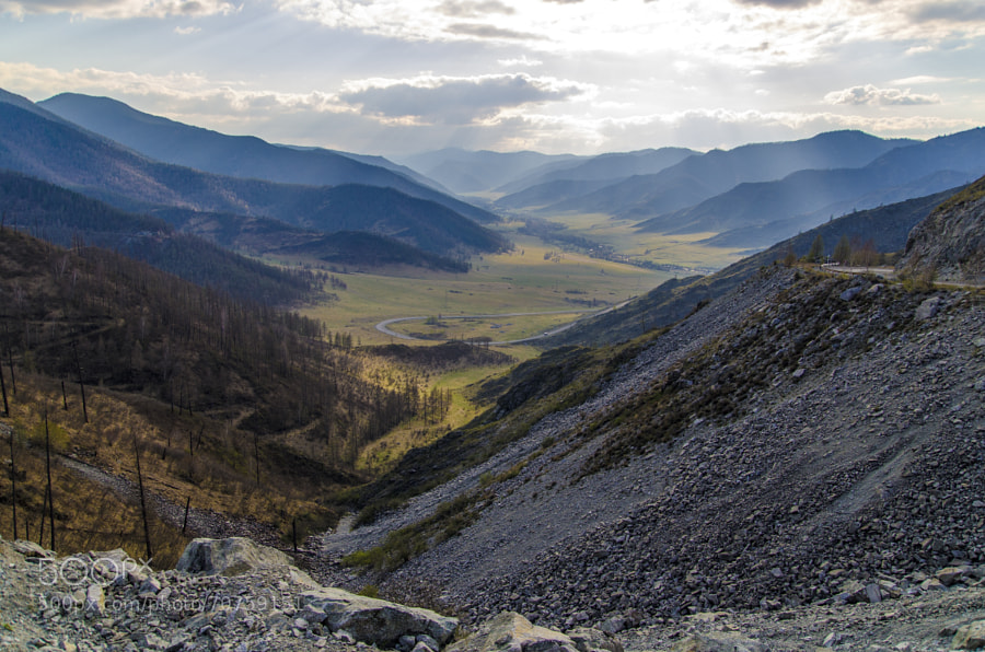 Ongudau pass located in Altay, Russia