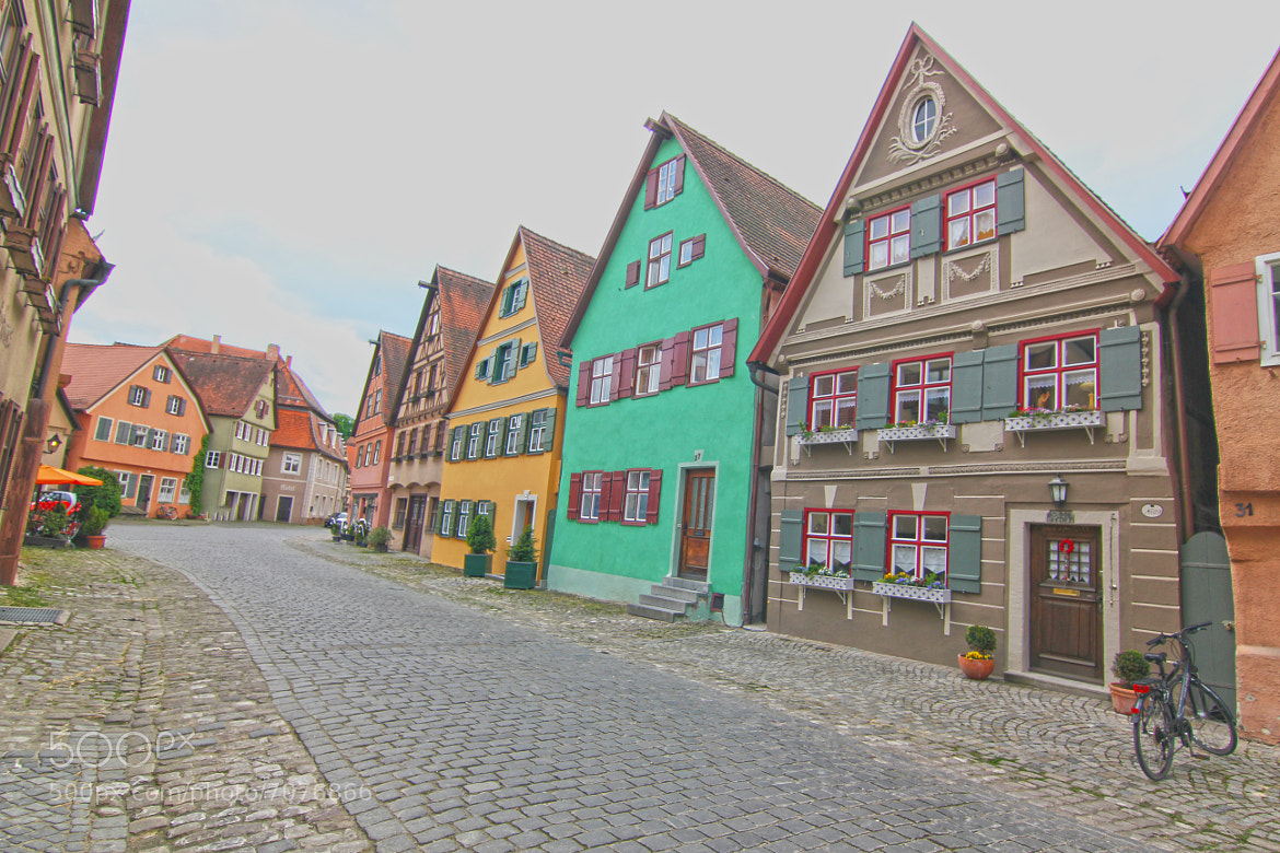 Photograph Colorful street houses....Nördlingen  by Itamar Campos on 500px
