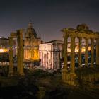 Roman Forum in Night Lights