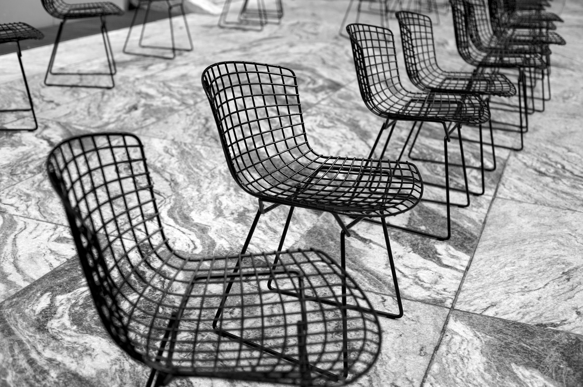 Photograph Bertoia Chairs at MOMA, New York by ldandersen on 500px