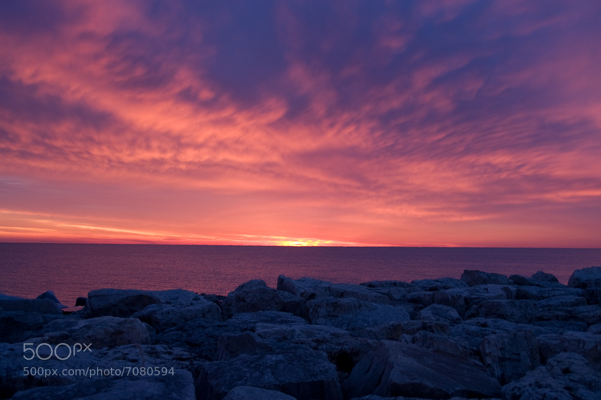 Photograph Lake Michigan Sunrise by Kyle Holder on 500px
