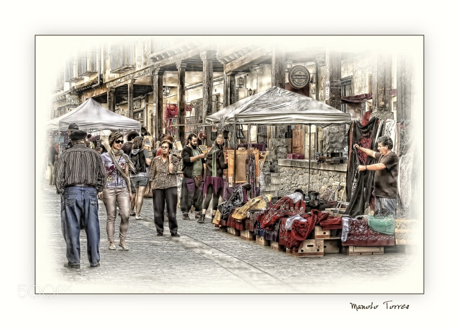 Photograph In the medieval market by Manolo Torres on 500px