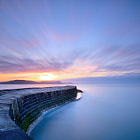 A 6 minute exposure at The Cobb, Lyme Regis, Dorset, England.