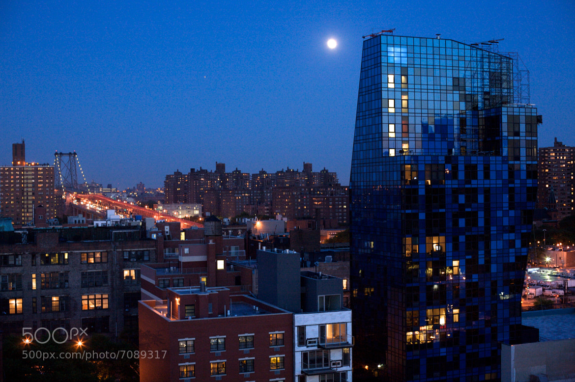 Photograph Moon Over the Lower East Side, New York City by ldandersen on 500px