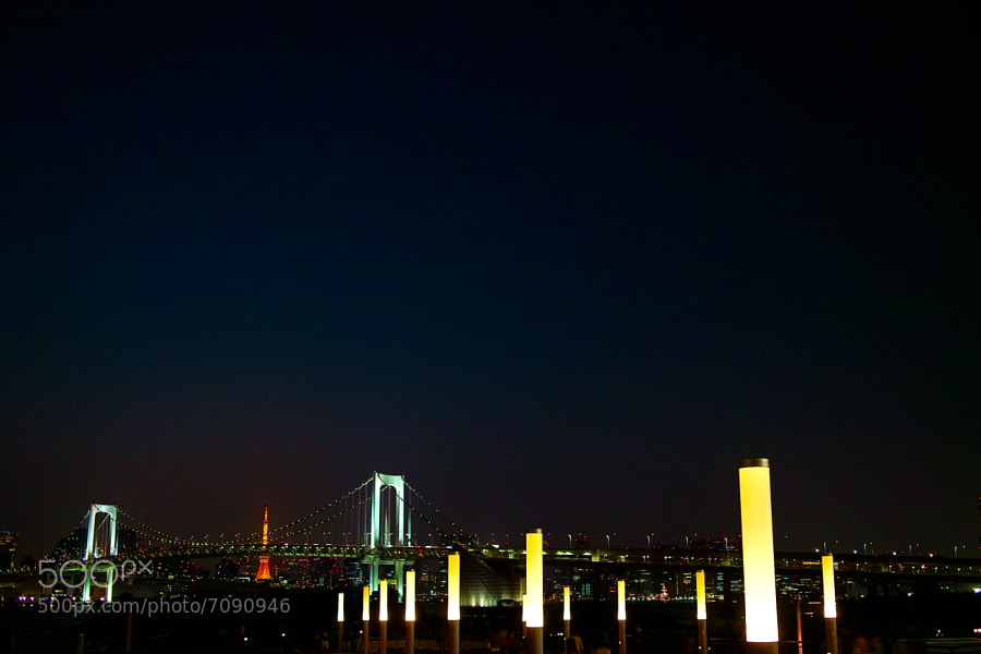 Spring Rainbow Bridge at Tokyo night by Hideya HAMANO (HAMACHI) on 500px.com