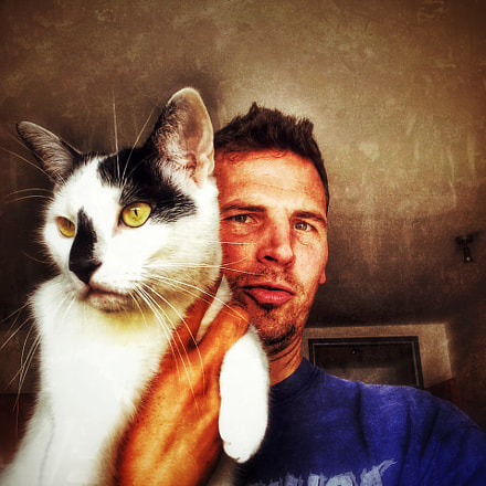 My cat Pinsel and me