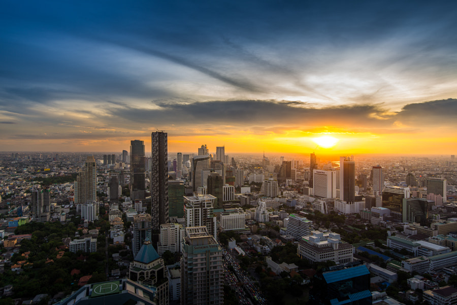 Sathorn District, Bangkok Cityscape by Anucha Petchagun on 500px.com