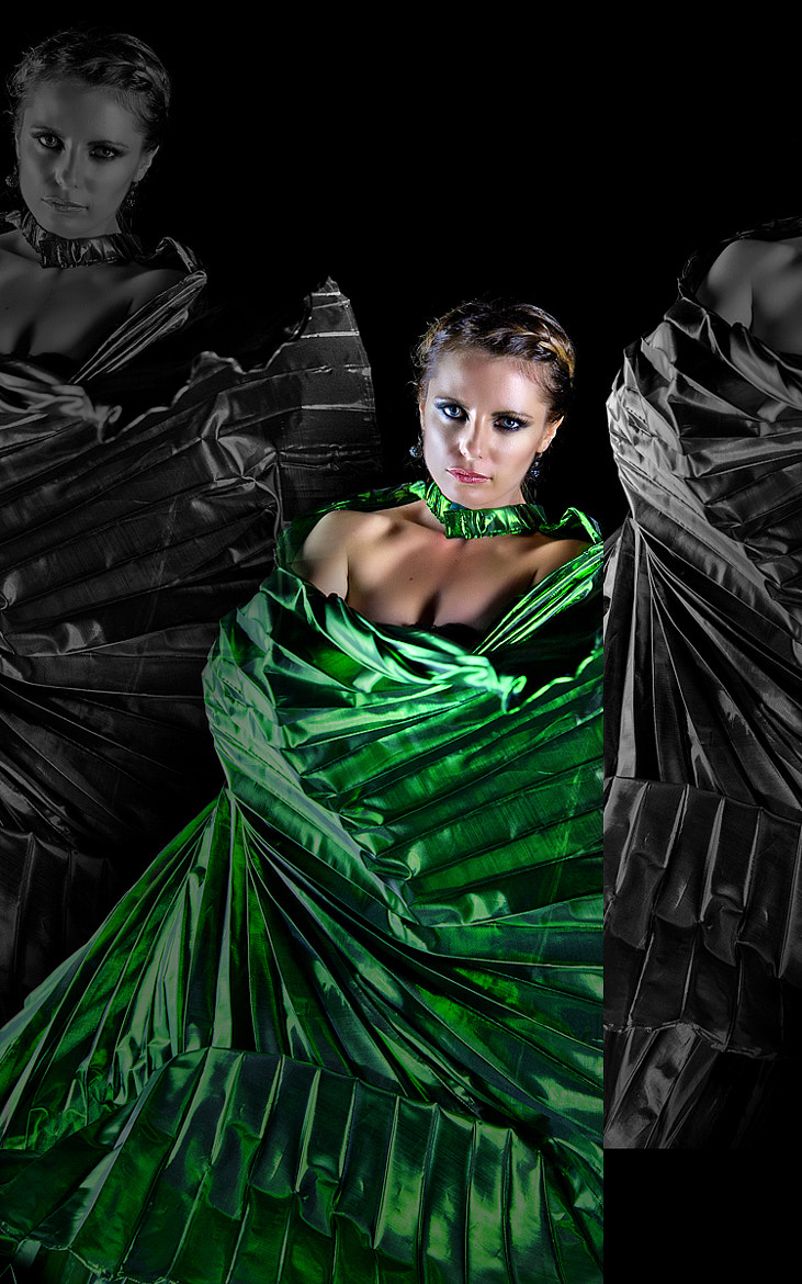 Photograph dark green angel by nelly putnam on 500px