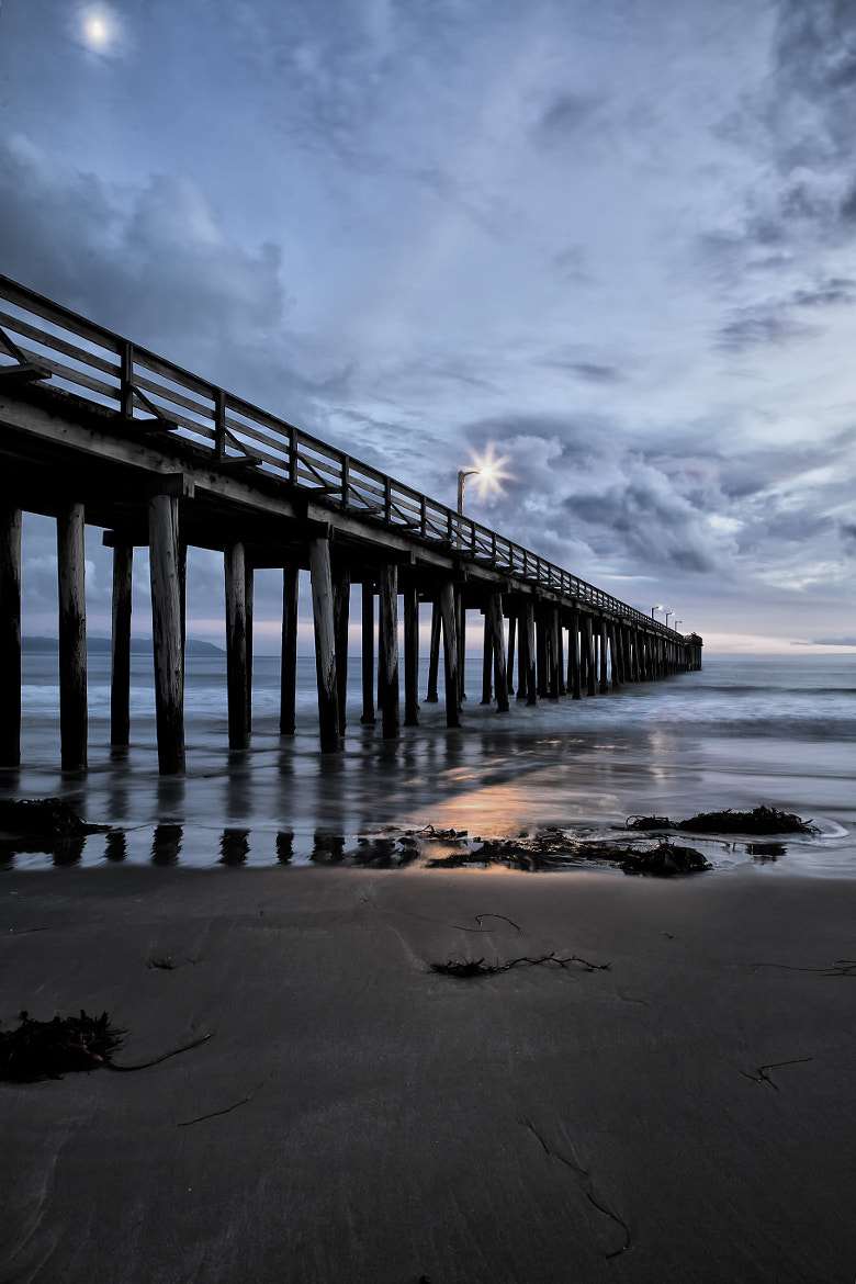 Photograph Pier Moon Lit ~ ! by Todd Livermore on 500px