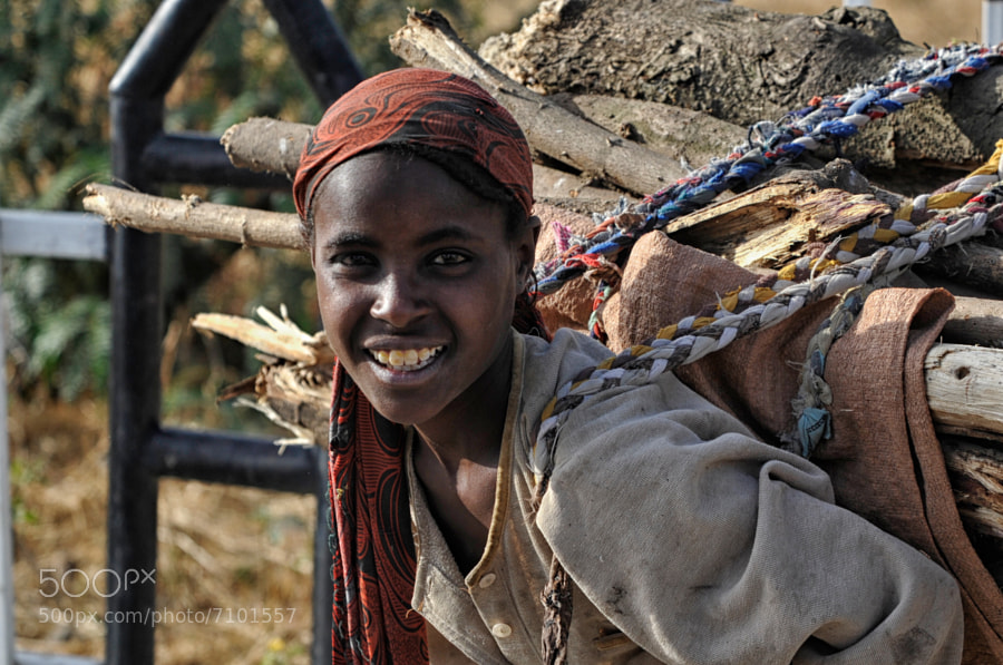 Photograph Firewood II (Ethiopian Portrait VI) by Nicole Cambré on 500px