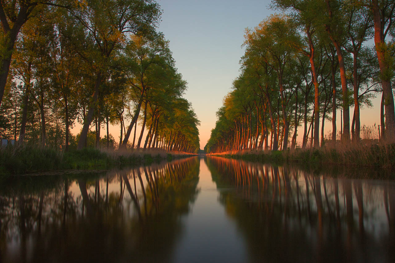 Photograph sunset over the canal by Johan Vanreybrouck on 500px