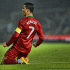 Постер, плакат: Christiano Ronaldo at Windsor Park Belfast